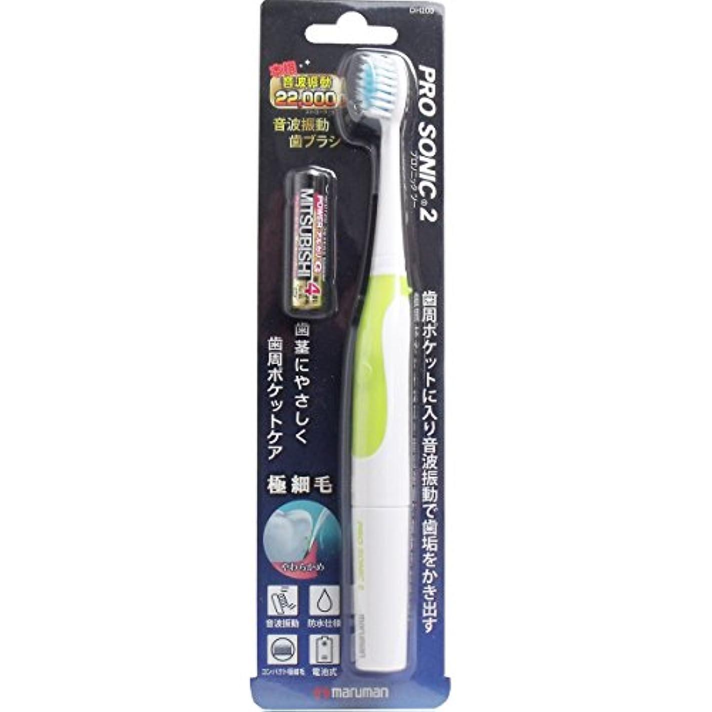 緊張する構築する緑マルマン 本格音波振動歯ブラシ プロソニック2 グリーン 1本