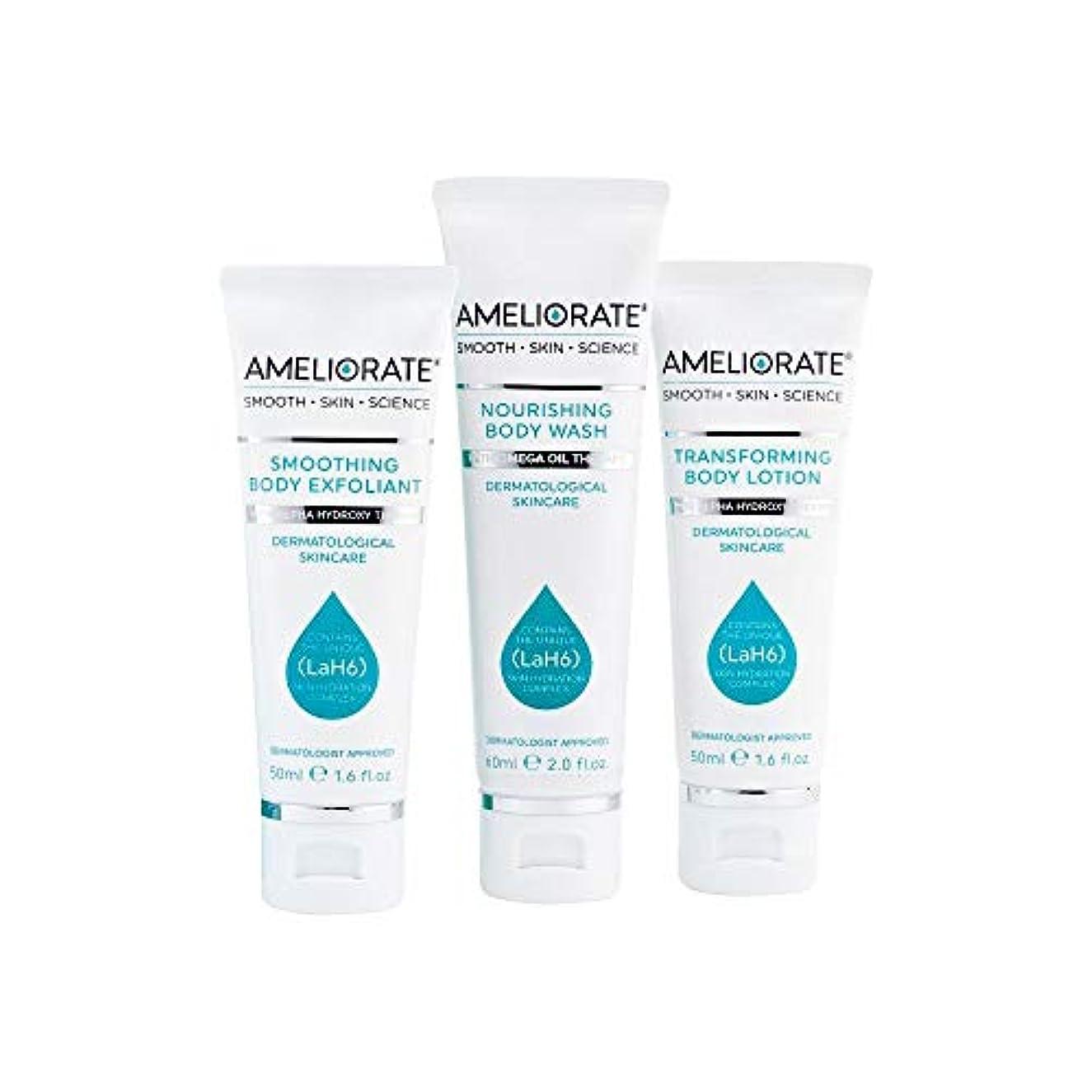昼食マイナス味[Ameliorate] 皮膚キットを滑らかにする3つのステップを改善 - Ameliorate 3 Steps to Smooth Skin Kit [並行輸入品]