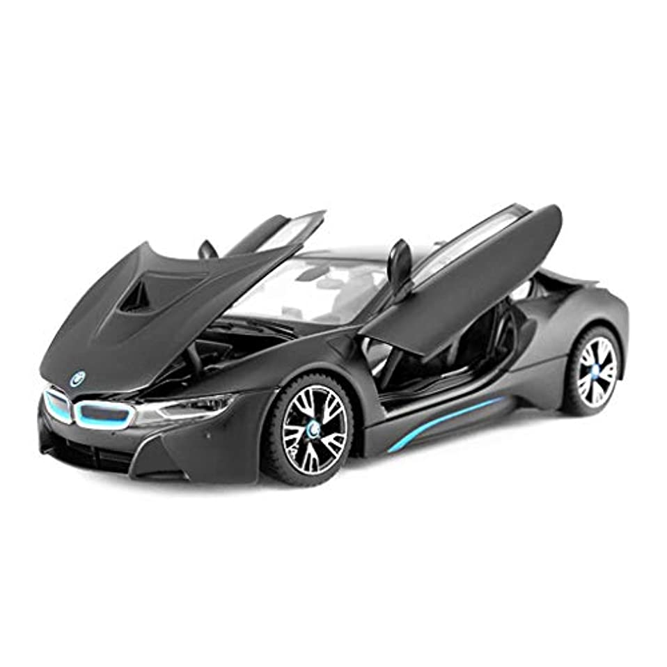 検出器ポーチライムHyzbスポーツカーモデルシミュレーション1:24 3ドア金属合金のおもちゃの車の子供の男の子黒ダイカストモデルカー