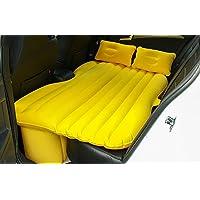 カーショックベッドピクニックベッド旅行インフレータブルベッド背部シートマットレス普遍的な車のクッションキャンプエアベッド子供のための ( 色 : Yelloe )
