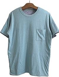 FilMelange フィルメランジェ CHEERY2 チーリー2  リバーシブル半袖Tシャツ -AQUA/MARINE-