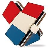 【KEIO】R15 Neo 手帳型 ケース カバー 旗 フラッグ フランス国旗 r15neoケース r15neoカバー アール15 ネオ 手帳型ケース 手帳型カバー かっこいい 世界の国旗 [国旗 フランス/t0695]