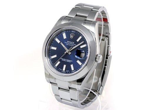 (ロレックス) ROLEX 腕時計 デイトジャストⅡ 116300 ブルー バー メンズ [並行輸入品]