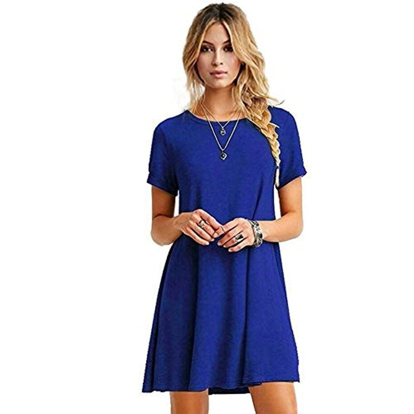 匿名同級生比較的MIFAN の女性のドレスカジュアルな不規則なドレスルースサマービーチTシャツドレス