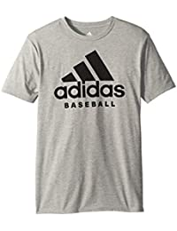 (アディダス) adidas キッズTシャツ Baseball Sport Tee (Big Kids) Grey LG (14/16 Big Kids) (12-13歳) One Size