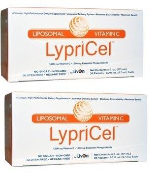 【二個セット】液状サプリメント ビタミンC1000mg 30包 Lypricel, Liposomal Vitamin C, 30 Packets リプ...