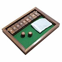 9 Number Shut the Box Wooden Board Game Valentine Gift Ideas by RoyaltyRoute [並行輸入品]