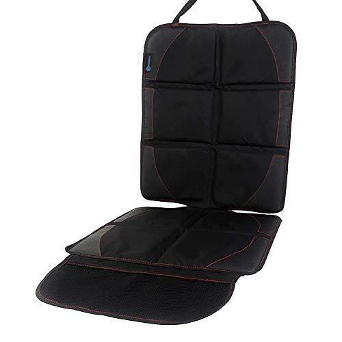 チャイルドシートマット カバー 車座席保護 シートプロテクター クッション 滑り止め 収納ポケット付き