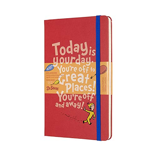 Moleskine 2019-20 Dr. Seuss Weekly Planner, 18M, Large, Red, Hard Cover (5 x 8.25)