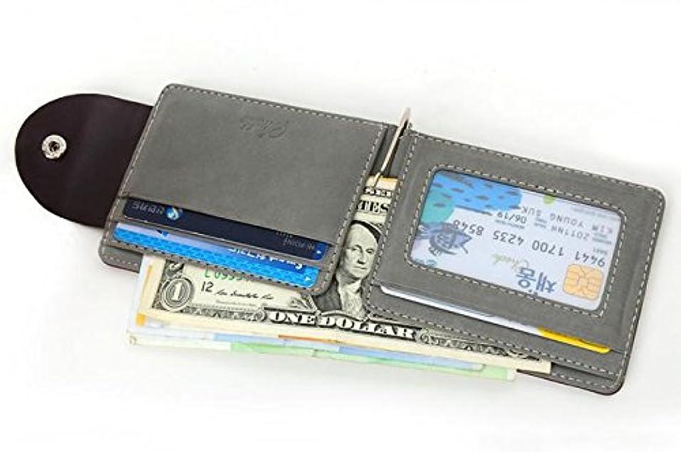 指大きい溝Eldori メンズ財布 二つ折り 海外旅行 財布 折り畳み コンパクト 使いやすい マネークリップ
