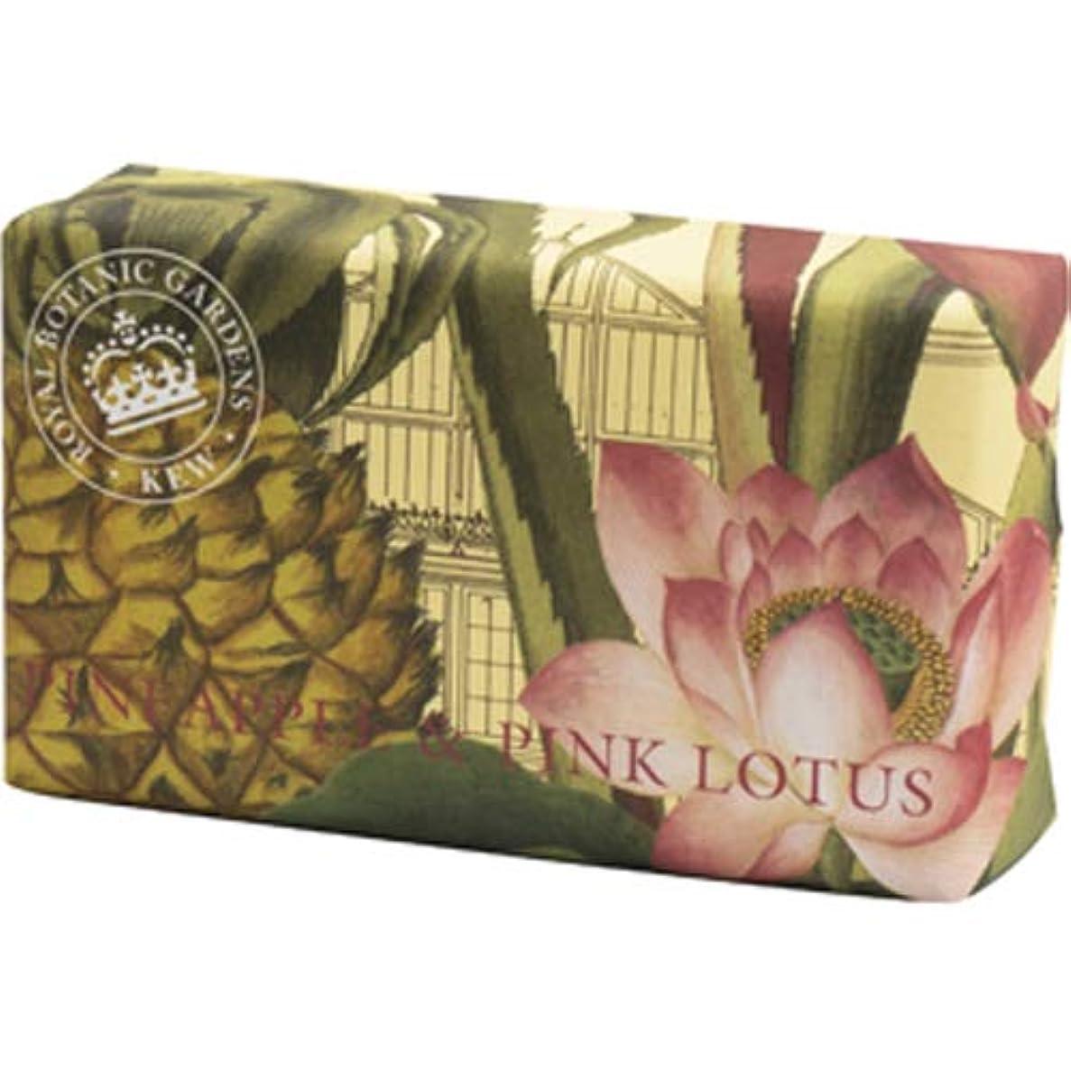 本当に可決大きい三和トレーディング English Soap Company イングリッシュソープカンパニー KEW GARDEN キュー?ガーデン Luxury Shea Soaps シアソープ Pineapple & Pink Lotus...