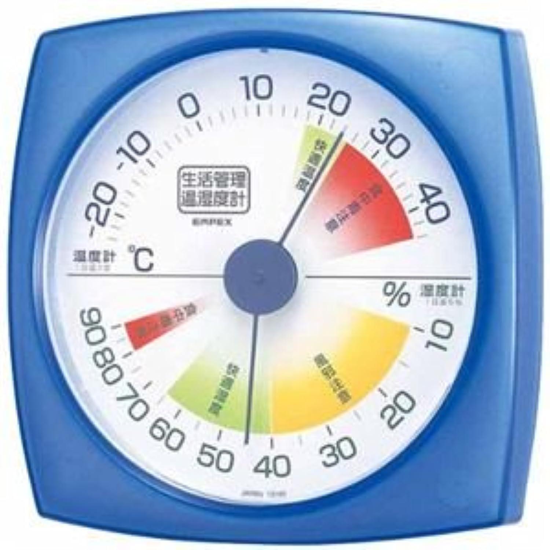 (まとめ)EMPEX 生活管理 温度?湿度計 壁掛用 TM-2436 クリアブルー【×5セット】