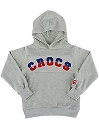 (クロックス) crocs キッズトレーナー フード パーカー 110-160cm 長袖 ガールズ ボーイズ 147-192 GY