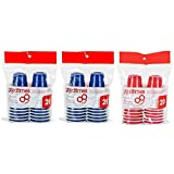 Goodtimes 2oz Mini Party Cups (3 packs of 20 cups) (ComboBlue/Red)