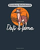 Donkey Notebook: doli llama a perfect gift item for llama lovers  College Ruled - 50 sheets, 100 pages - 8 x 10 inches