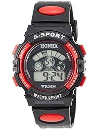 [フォンエックス]HONHX デジタル腕時計 子供用スポーツモデル レッド H0152 ボーイズ 【並行輸入品】