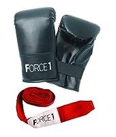 force1Boxing Mittsとストラップ–ブラック