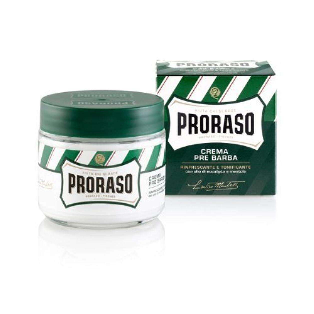 強化意志に反するファンドProraso Pre & Post Cream Menthol and Eucalyptus - New Formula - 3 PACK by Proraso [並行輸入品]