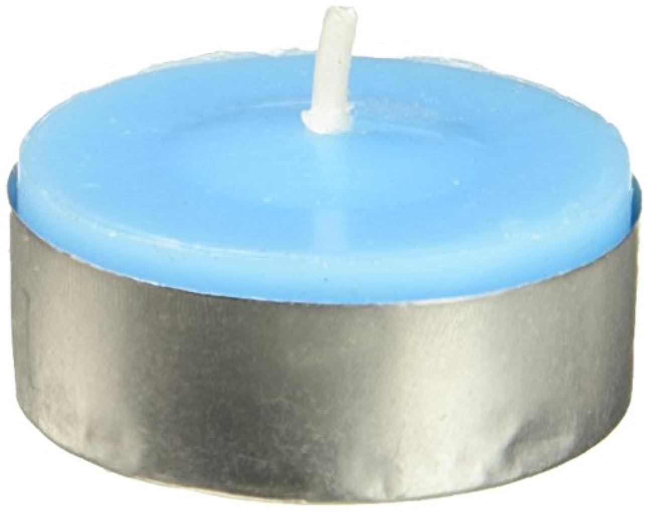 演劇ディスコ有料Zest Candle CTC-003 Turquoise Citronella Tealight Candles -100pcs-Box