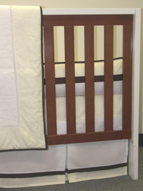 Bacati – メトロイエロー/ブラウン4 pc。ベビーベッド寝具セット