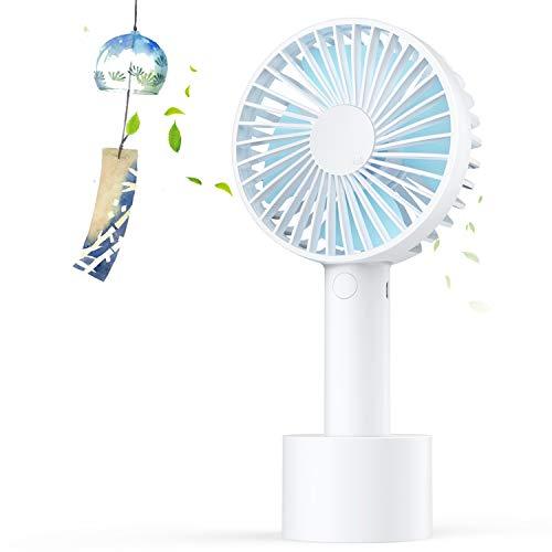 携帯扇風機 USB扇風機 充電式 手持ち/卓上ファン 風量3段階調節 熱中症対策 静音 小型なのに驚きの風量 Elechomes 【日本語取扱説明書付き】