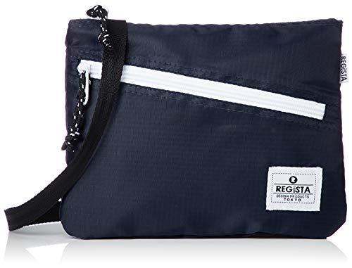 [レジスタ]サコッシュバッグ 軽量 ナイロン 男女兼用 ミニショルダーバッグ ボディバッグ 黒 赤 青 黄 紫 グレー ベージュ ネイビー 9カラー