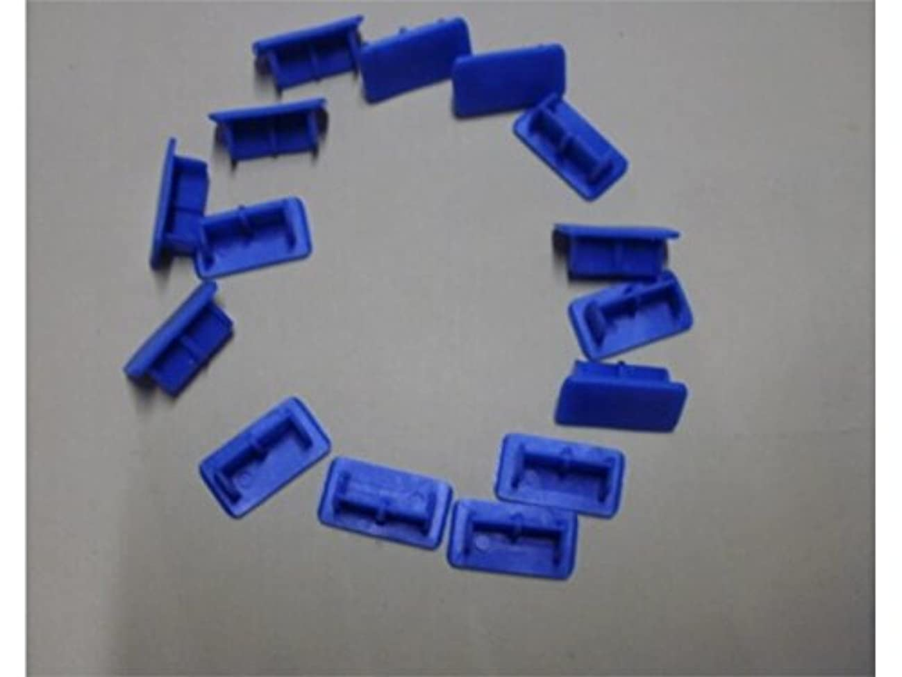 天の丁寧区FenBuGu-JP USBデータケーブルヘッドブルー用100個のPCアンチダストポートプラグセット ゲームマウスパッド