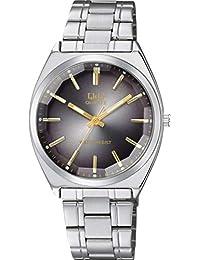 [シチズン キューアンドキュー]CITIZEN Q&Q 腕時計 アナログ クラシック 日常生活防水 ブレスレット ブラック シルバー QB78-202 メンズ