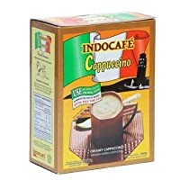 Indocafe カプチーノ125グラム(4.40オンス)インスタントコーヒー25のgr @ 5-ct(3パック)