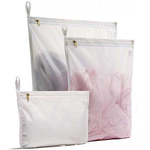 YOKELLMUX 洗濯ネット ランドリーネット 洗濯袋 洗濯バッグ ブラジャー/下着/Tシャツなど適用 3枚入れ 角型...