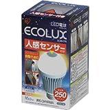 アイリスオーヤマ LED電球 一般電球形 6.0W(全光束:250 lm/電球色相当)人感センサー付LED電球「ECOLUX(エコルクス)」 LDA6L-H-S