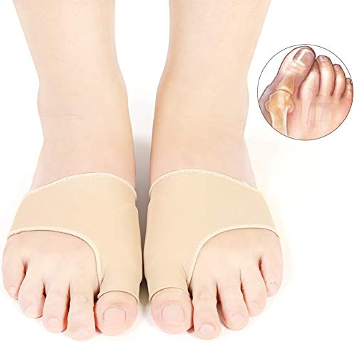 寛容大惨事記憶足指の副木と腱膜救済プロテクタースリーブキット、シリコーン腱膜矯正外反母矯正フットケア痛みL