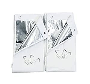 冷気ブロック 温度差-19.2℃ 室内用スクリーン UV・遮光共に98% カット エコ スクリーン(幅90X丈120cm)