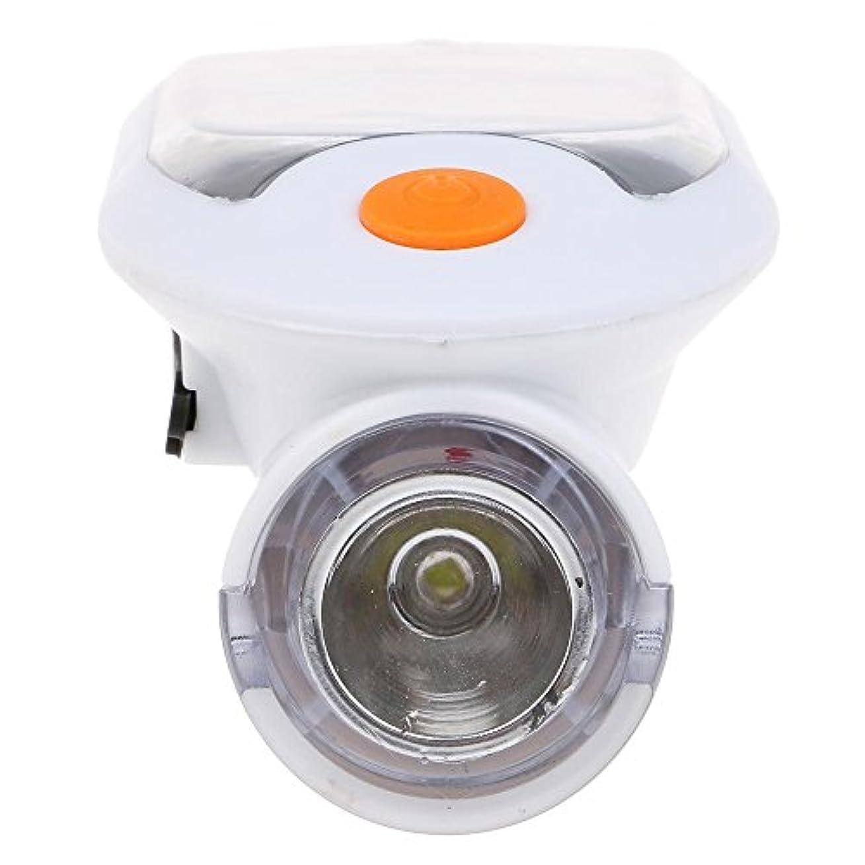 波近くガイドラインMMSZ サイクルソーラーライト 自転車ledライト LED4灯式とっても明るい USBからも充電できる ヘッドライト ランプ ホワイト