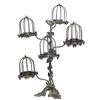 Iron鳥ケージティーライト( t-light ) Candle Holder–5階層–鳥デザイン–ヴィンテージLook