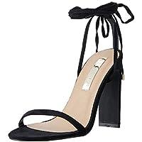 BILLINI Women's DAIANO Strappy Block Heel, Black Suede, 9 AU