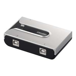 iBUFFALO USB2.0切替器 2台のパソコンで1台のUSB機器を切替 シルバー BSU2K21SSV
