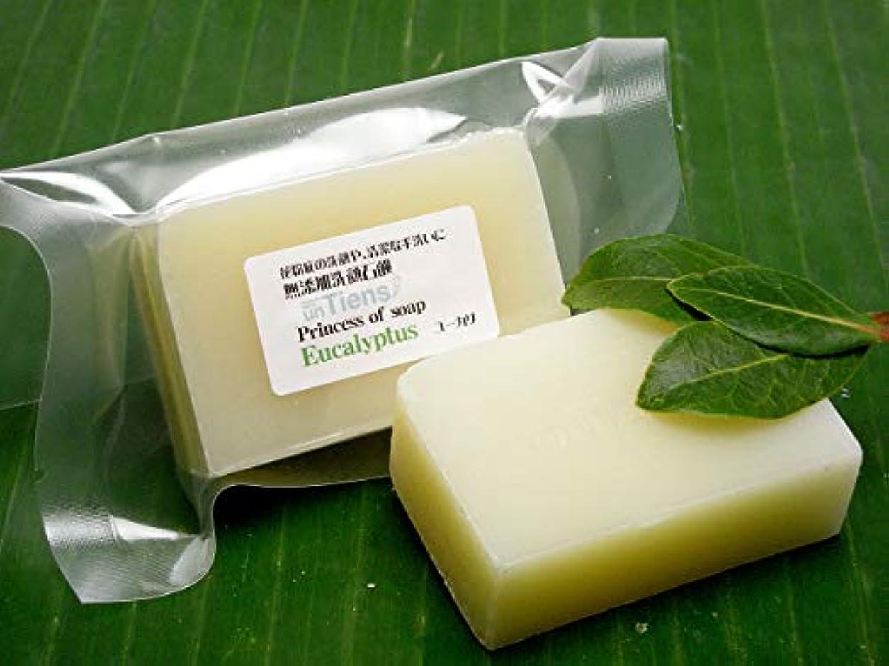 疫病としての中で手作り石鹸アンティアン プリンセスオブソープ 「ユーカリ」ちょっとお得な3個セット135g