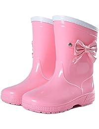 レインブーツ キッズ 女の子 リボン おしゃれ 長靴 レインシューズ 雨靴 柔らかい こども 子供 用 通園 通学
