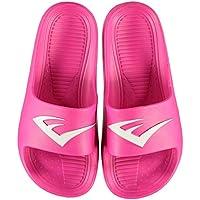 Official Brand Everlast Sliders Pool Shoes Juniors Girls Black Sandals Flip Flop Beach Shoes