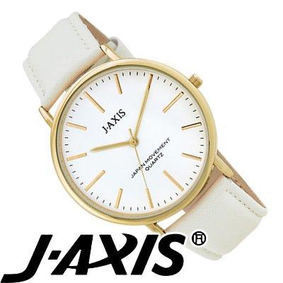 J-AXIS レディース 腕時計 シンプル&ビッグフェイス おしゃれで女性に人気 ホワイト BG1127-W