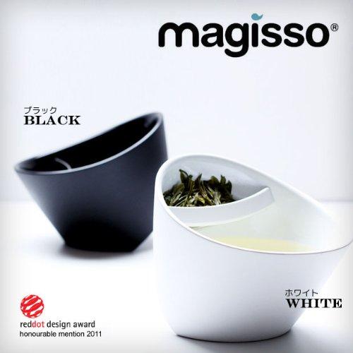 MAGISSO マギッソ ティーカップ【カラー:ホワイト】(ティーバッグの置き場所に困らないカップ)
