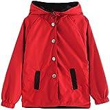 ジャケット 子供服 女の子 コート フード付き 裏地 かわいい チェック柄 トレンチコートナイロン 両面 コート襟 フード 付き Chaufly