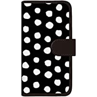 CaseMarket 手帳型 ケース レザー 厚手タイプ docomo AQUOS PHONE EX (SH-02F) 北欧 モダン ウォレット モノトーン パッロ 2104 Black