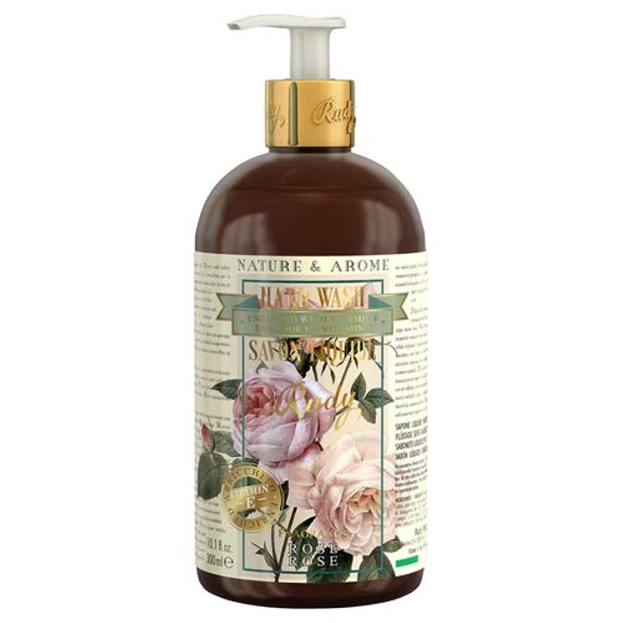 シェルター大混乱普遍的なRUDY Nature&Arome Apothecary ネイチャーアロマ アポセカリー Hand Wash ハンドウォッシュ(ボディソープ) Rose ローズ