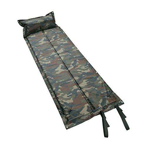Winhi 自動膨張式 エアーマット キャンピングマット キャンプマット エアピロー付き 防水 コンパクト 連結可能 収納 車中泊 高反発 2.5cm 寝具 テント(迷彩)