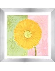 イエローデイジーby Dona Turner – 9 x 9インチ – アートプリントポスター LE_46048-F9935-9x9
