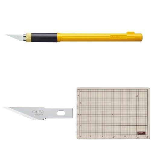 オルファ(OLFA) アートナイフプロ 157B (カッターマットA4/直線刃5枚入)セット