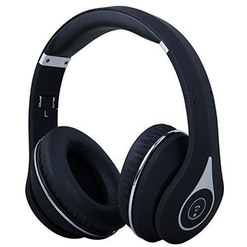 August Bluetooth 4.1 ワイヤレスヘッドホン マイク付き 折り畳み式 EP640 ブラック
