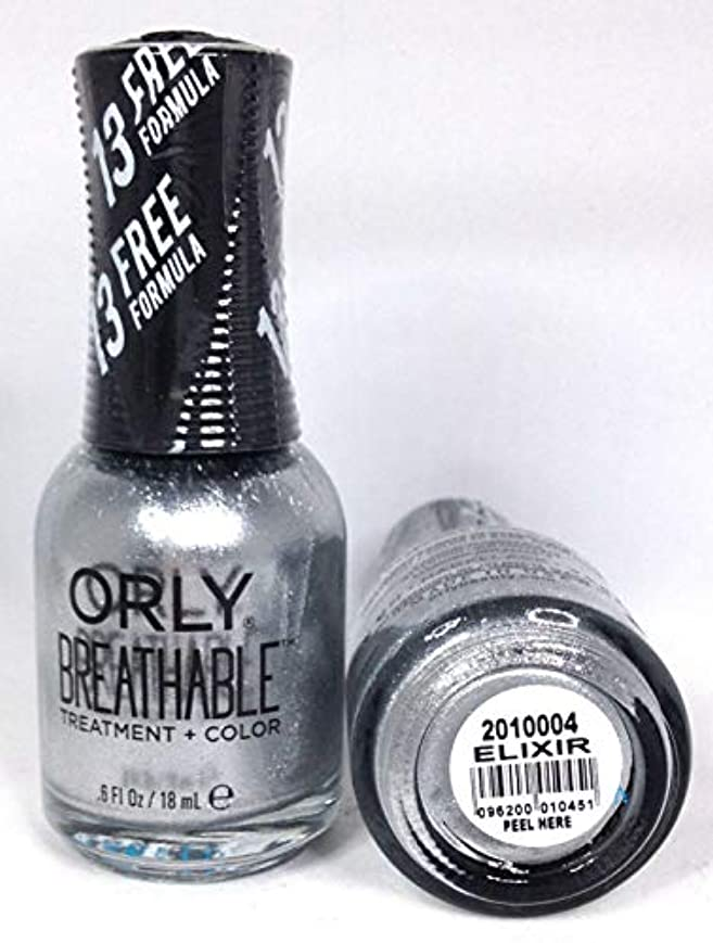 怠作りますヒョウORLY Breathable Lacquer - Treatment+Color - Elixir - 18 mL / 0.6 oz